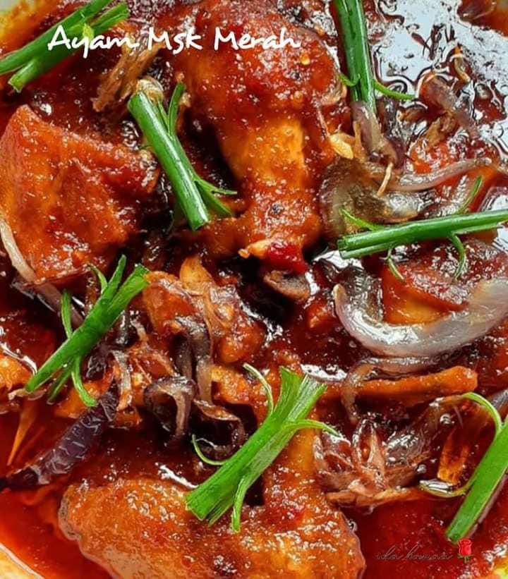 Resepi Ayam Masak Merah Kenduri Mudah