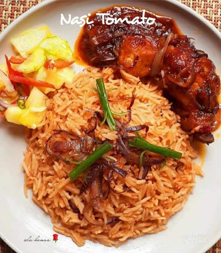 Resepi Nasi Tomato Ayam Masak Merah Kenduri